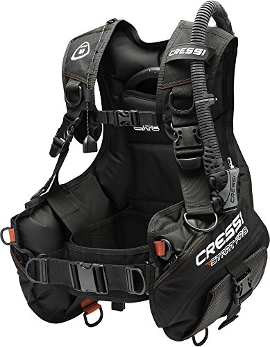 Cressi Start Pro 2.0 Jacket Style BCD Ideal for Beginners with Quick-Release Weight Integrated Pocket (Black, Large)