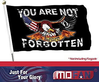 MOFAN POW MIA You are Not Forgotten Flag 3'x5' Polyester Some Gave All Flag with Durable Heading and Solid Brass Grommets