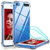 iPod Touch 7 Case, iPod Touch 6 Case, iPod Touch 5 Case with Tempered Glass Screen Protector [2 Pack], LeYi Shockproof...
