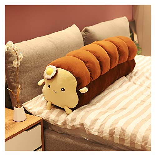Fangzwl Cute Plush Toy Simulated Food Pillow Stuffed Plush Toast Bread Toy Sofa Creative Decor Long Loaf Pillow Sleeping Cushion Room Decor Girl Gift (Color : Long Dark Brown, Height : Small)