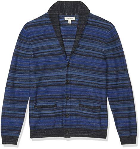 Goodthreads Soft Cotton Cardigan Summer Sweater, Tonal Stripe, M