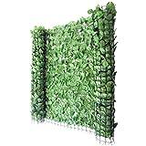 Mendler Balkonsichtschutz T811, Buchenhecke Sichtschutz Windschutz Verkleidung für Terrasse Zaun - 300x150cm hell