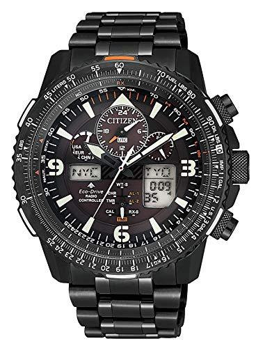[シチズン] 腕時計 プロマスター エコ・ドライブ電波時計 クロノグラフ 特定店取扱モデル JY8075-51E メンズ ブラック