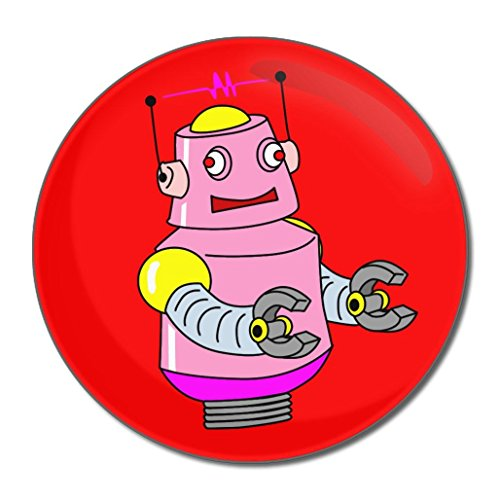 Red Girl Robot - Miroir compact rond de 55 mm