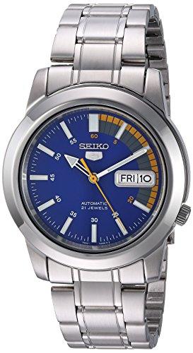 "Relógio masculino automático Seiko SNKK27 ""Seiko 5"" de aço inoxidável"