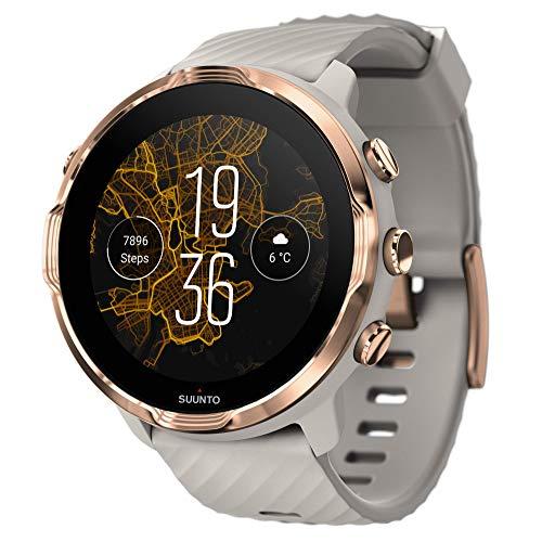 Suunto 7 Reloj Inteligente versátil para Practicar Deporte con Wear OS de Google, Unisex-Adulto, Gris/Oro Rosa, Talla Única