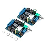 MakerHawk 2Pcs Digital Amplifier Board, TPA3116D2 Two-Channel Stereo High Power Digital Subwoofer Power Amplifier Board 2x50W 5V 12V 24V for Store Solicitation Home Theater Square Speakers DIY