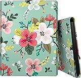 Grafoplás 82401934-Carpeta 3 solapas de flores tamaño folio y cierre con goma elástica, Diseño Noa