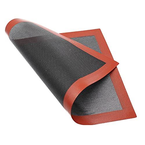 Tappetino da Forno in Silicone Foglio da Forno in Silicone per Forme di Cottura, Antiaderente, Resistente al Calore, Riutilizzabile Tappetino Microforato da Forno Antiscivolo Teglia da Forno 40x30cm