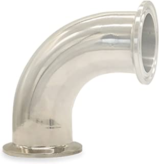 Tanboom Sanitary Ferrule 90 Degree Clamp Elbow Pipe Fitting OD 51mm 2