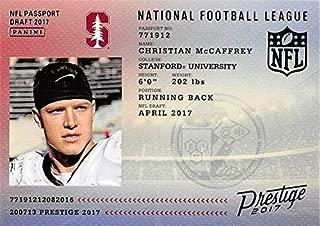 Christian McCaffrey Football Card (Stanford Cardinal, Carolina Panthers) 2017 Panini Prestige NFL Passport Rookie #12