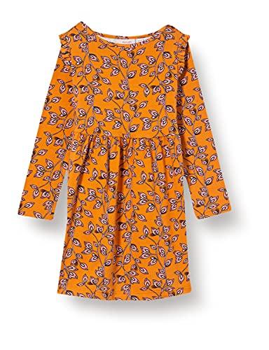 Noa Noa miniature Girls Mini Spring Leaf Jersey Long Sleeve,Knee Length Dress, Print Multicolour, 8Y