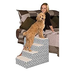 Pet Gear Easy Step IV Pet Stairs, 4-Step for Cats/Dogs, Portable/Lightweight, Sturdy, spa Blue, for Pets up to 50 pounds (PG9640TSB)