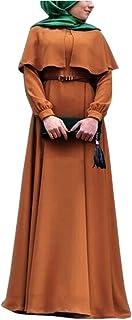 Daytwork Mujer Vestidos Casuales - Clásico Capa Un Vestido de Línea Suelto Dobladillo Maxi Vestidos Árabe Saudita Kaftan B...