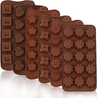Intbase Moldes de Chocolate y Caramelo de Silicona, moldes para Hornear Flexibles para Chocolate,