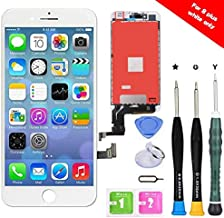 Premium Screen Replacement Compatible with iPhone 8 Plus 5.5 inch Full Assembly -LCD Touch Digitizer Display Glass Assembly with Tools, Fit Compatible with iPhone 8 Plus (White)