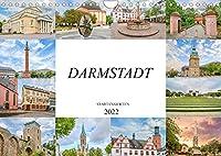 Darmstadt Stadtansichten (Wandkalender 2022 DIN A4 quer): Es erwarten Sie einmalig wunderschoene Aufnahmen von Darmstadt (Monatskalender, 14 Seiten )
