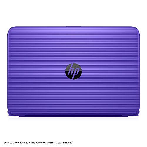 HP Stream Laptop PC 14-ax050nr (Intel Celeron N3060, 4 GB RAM, 64 GB eMMC, Purple) with Office 365 Personal for one year
