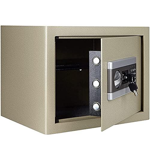 SOFACTY Caja Fuerte Electrónica Pequeña Caja Fuerte con Cerradura Electrónica y Llave Montada en la Pared 30x37x31cm