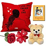 Best Valentine's Day Gifts For A Girlfriend - Indigifts Valentines Day Gift Combo Love Gifts Cushion Review