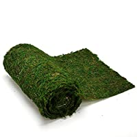 """Byher Dried Moss Table Runner for Party Garden Decoration, Dark Green (30cm X 180cm (12"""" x 71""""))"""