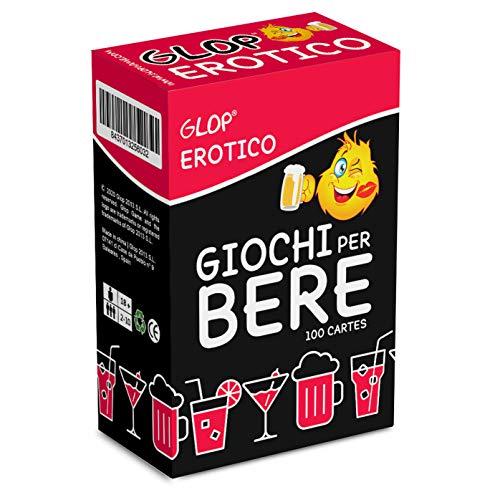 Glop Erotico - Giochi per Bere Piccante - Giochi Alcolici per Feste - Giochi da Tavolo per Adulti - Giochi di Carte Adulti - Giochi di società - Dinking Game - Idee Regalo