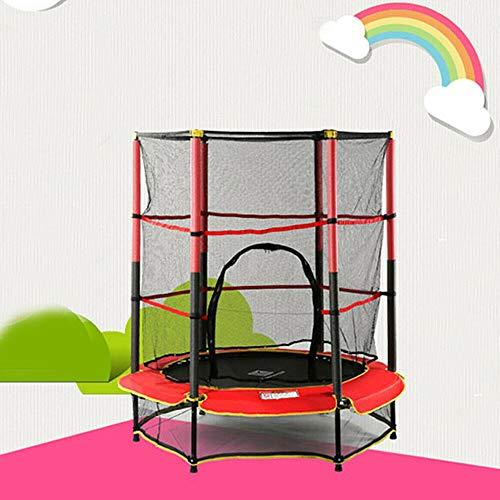 Flybear 140cm Trampolin Kinder Gartentrampolin Outdoor Sporttrampolin und gepolsterten Stangen mit UV-Beschichtung Sicherheitsnetz