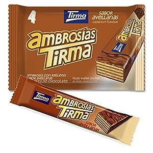 Tirma Ambrosía Chocolate con Leche y Relleno de Crema de Avellanas, 4 Unidades x 21.5g, 86g