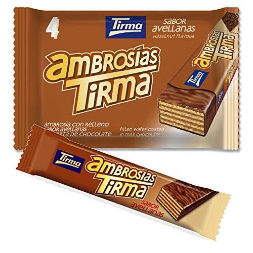 Tirma Ambrosía Chocolate Con Leche y Relleno de Crema de Avellanas (4 Unidades x 21,5g) 86g