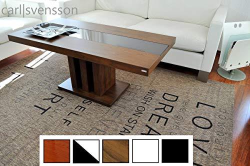 Design Couchtisch Tisch S-444 Nussbaum/Walnuss getöntes Glas Carl Svensson