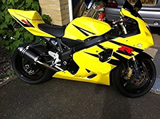 FocusAtOne Yellow Black Complete Fairing Bodywork Aftermarket Painted ABS Plastic Injection Molding Kit for 2004 2005 Suzuki GSXR GSX-R 600 750