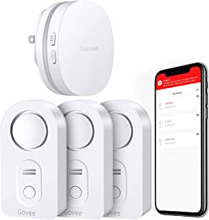 Govee WiFi Water Alarm, Smart APP Leak Alert, Wireless Water Sensor and Alarm with Email, Notification, App Alerts, Remote Monitor Leak for Home Security Basement(3 Packs)(Not Support 5G WiFi)