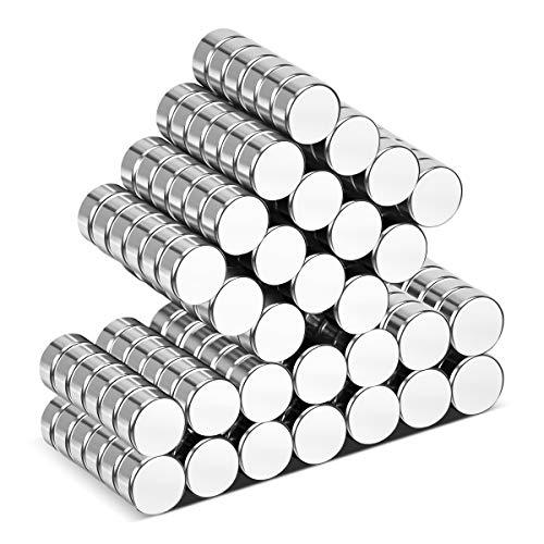 Wukong Neodym Magnete,105 Stücke Ultra-Starke Supermagnete 6 x 3 mm Mini Magnete für Whiteboard, Magnettafel, Magnetstreifen …