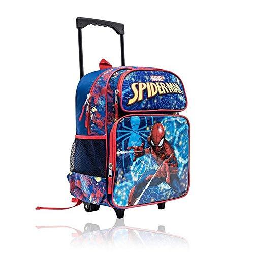 Marvel Spider-Man Kids 16 Inch Wheeled Backpack School Bag for Boys