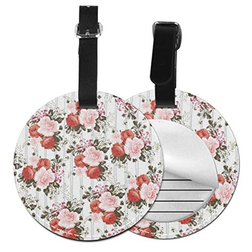 Luggage Tags Blush Pink Roses Flowers Suitcase Luggage Tags Business Card Holder Travel ID Bag Tag