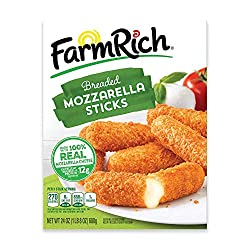 Farm Rich Breaded Mozzarella Cheese Sticks, Frozen, 24 Ounces