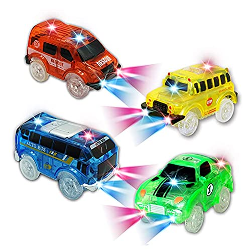 KaliningEU Cars Spielzeug for Kinds 4 Pack Cars Auto Tracks Compatible with Most...