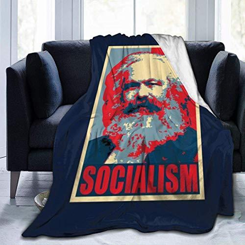 LAKILAN Karl Marx Socialismo Pop Art Oficina Manta De Sofá,Tirar Una Manta,Colcha Suave,Manta De Franela,Mantas De Cama,Cubierta De Cama,Manta Cálida A Cuadros L
