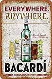 Bacardi Vintage-Blechschild mit Aufschrift Everywhere