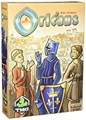 Grow your economic reach and gather followers in this bag-building game. A game for 2 to 4 players 90-120 minutes play time Theme: medieval, trading, bag-building Deep strategic play