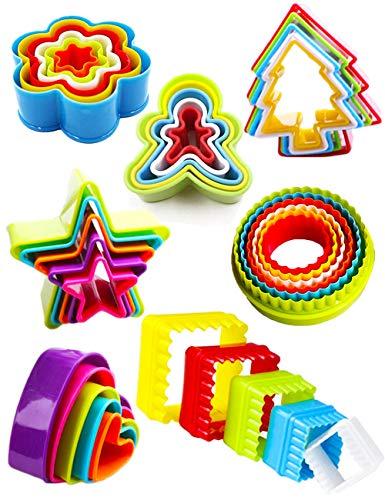 Nifogo Moldes Galletas Cortadores Cortador Galleta Infantiles, Galletas Navidad Molde Set, Cookie Molde Corazon, Cortapastas Estrella Reposteria