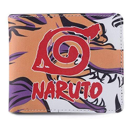 Ailin Online Naruto Shippuden portemonnee, draagbare multifunctionele Anime portemonnee voor kaarten en geld organisatie