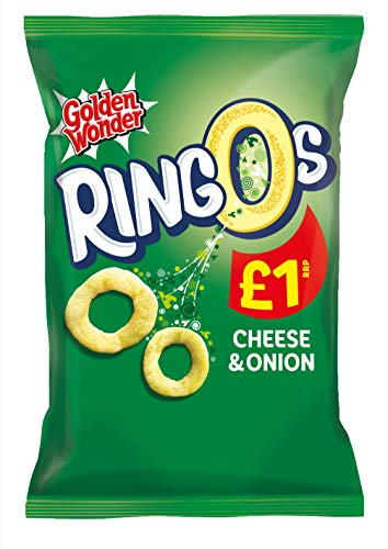 Golden Wonder Cheese and Onion Ringos 55 g - 15 Count