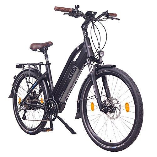 "NCM Milano Plus Bicicleta eléctrica de Trekking, 250W, Batería 48V 16Ah • 768Wh (26"" Negro Plus)"