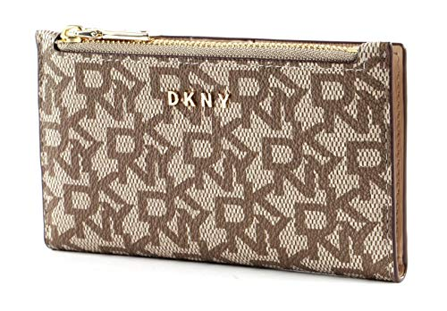 DKNY Bryant Logo Bifold Card Holder Chino/Sand