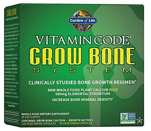 Garden of Life Calcium Supplement - Vitamin Code Grow Bone Made with...
