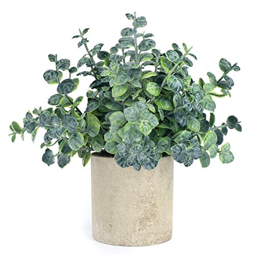 iflove Small Fake Plastic Plant Artificial Eucalyptus Potted Plant Look Real...