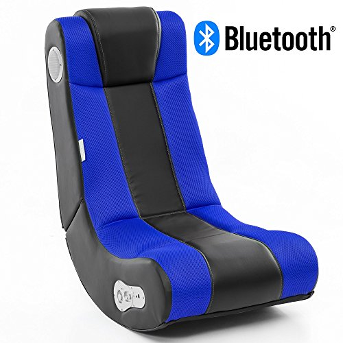 Wohnling WL8.007BT Soundchair, Lederimitat, Blau, Höhe: 101 cm Breite: 57 cm...