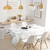 テーブルクロス マーブル柄防水・耐油テーブルクロスカバー生地厚い綿とリネンプリントテーブルクロス (Color : C, Size : 100*160CM)