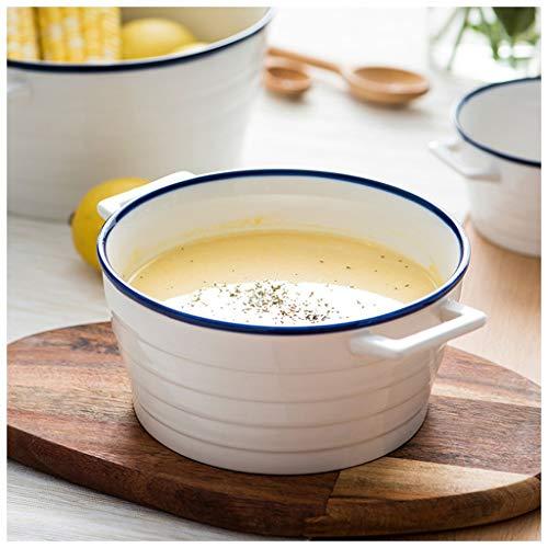 YYF Bol à côté en céramique blanche - Petite assiette à soupe de nouilles Assiette à soupe Assiette à soupe Coupe à salade de fruits Bol à dessert 5-6.4 pouces (Taille : 15.3cm)